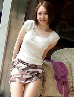 Yuzuka Kinoshita is demonstrating big boobs and hairy pussy